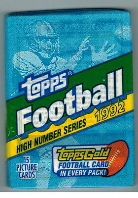 1992 Topps Football Unopened Pack High Series From Box Favre Marino Gold Cards