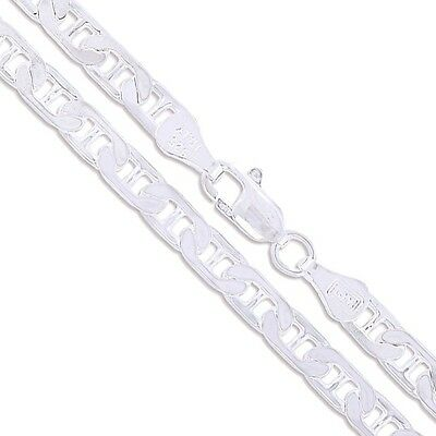 Sterling Silver Necklace Marina Anchor Flat Link Chain Pure 925 Italy Wholesale