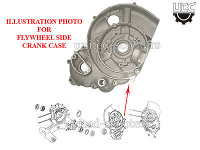 Vespa Lml 5 Port T5 Star Crank Case Flywheel Side Small P1001