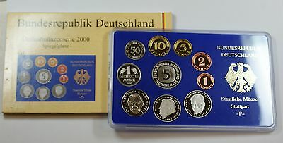 2000 Germany 10 Coin Proof Set- G- In Original Mint Packaging