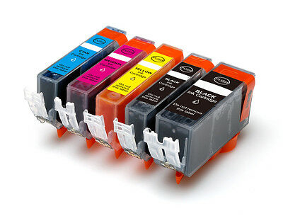 5 Pack Ink Set + Smart chip for Canon PGI-225 CLI-226 MX712 MG5320 MG5220