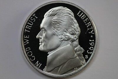1993 S Proof Jefferson Nickel Coin