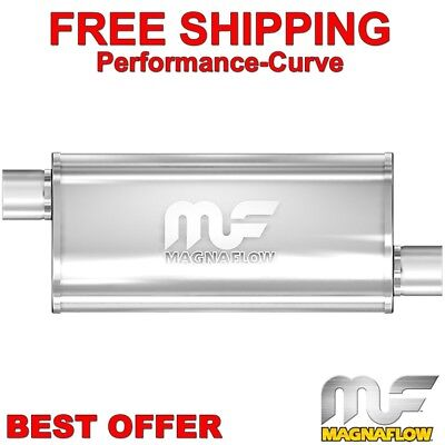 "3/"" Inlet//Outlet 14/"" Body 20/"" Length Magnaflow 14329 4/""x9/"" Oval Muffler"