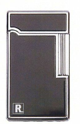 Ronson Aurora Black With Chrome Trim Flint Lighter Soft Flame luxury Gift Boxed