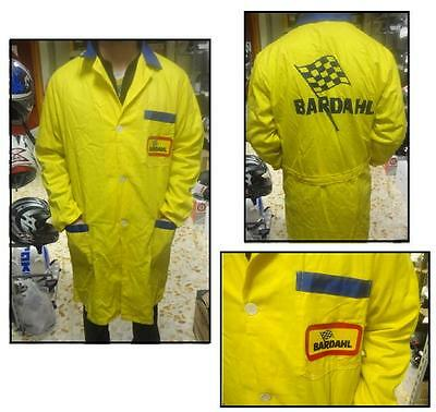 Tuta camice suit moto minimoto meccanico officina workshop OIL BARDAHL giallo 48