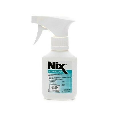 Nix Lice Control Spray 5 oz Kills Bed Bugs Step 3 For Bed Furniture Odorless NEW