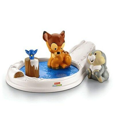 Fisher-Price Little People Disney Movie Moments Bambi And Thumper Playset, NEW