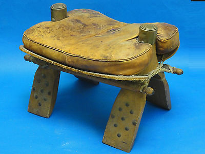Antique Camel Saddle Hassock Ottoman Foot Stool
