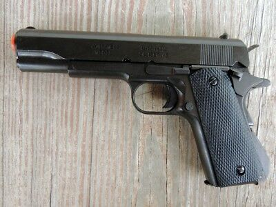 Replica Denix Black Finish M1911A1 Colt .45 Automatic Prop Gun Field Strippable