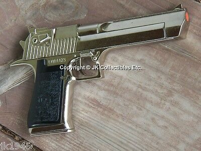 Replica Nickel Finish Desert Eagle Pistol Movie Prop Gun