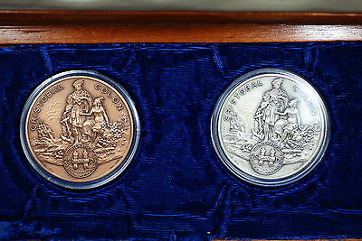 1982 Dominican Republic Salvador Jorge Blanco-Cristobal Colon Medal Set- w/ Box