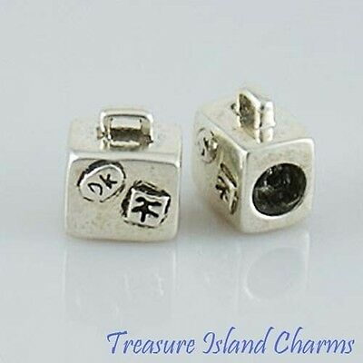 Geometry Style .925 Solid Sterling Silver European Euro Spacer Bead Charm