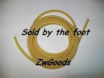"""1/2"""" I.D x 1/8"""" wall x 3/4"""" O.D LATEX RUBBER TUBING AMBER SOLD BY THE FOOT USA"""