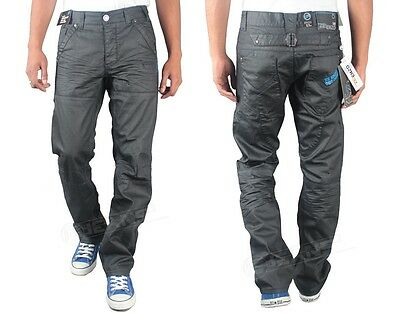 Mens New Enzo EZ125 Branded Jeans Straight Leg Grey Colour All Size 28 TO 40