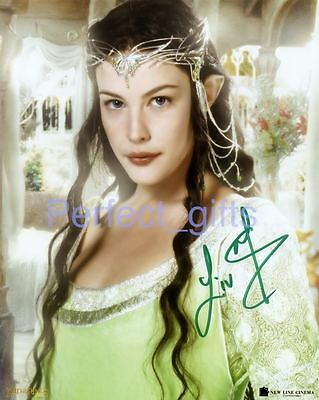 Liv Tyler Arwen Lord Of The Rings Signed 10X8 Inch Repro Photo Print