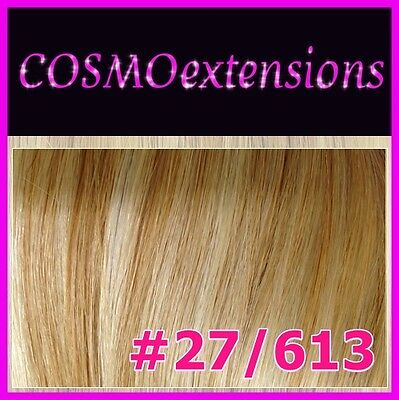 EXTENSIONES CORTINA PELO NATURAL REMY,50-55cm,100 gr.COLOR #27/613 MIX RUBIOS