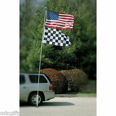 16' Telescoping Aluminum Portable Flagpole Football Tailgating / NASCAR # 11131