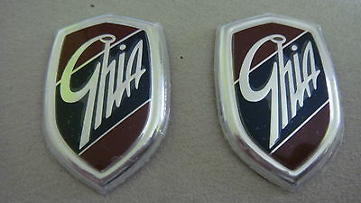 Car Chrome Badge Emblem Genuine ghiA for Ford Focus Tanuas Carrozzeria SpA x2