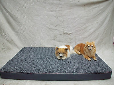 Memory Foam Orthopedic - Extra Large DOG BED Heavy Duty Kennel Mat Four Seasons