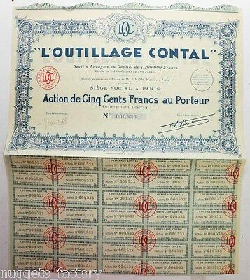 Action ancienne :  SA L'outillage Contal ( 576 )