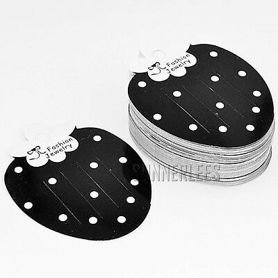 100pcs Wholesale Paper Balck Strawberry Hair Clip Jewelry Packaging Display Card
