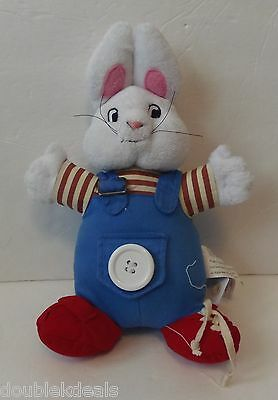 Plush Max From Max And Ruby - Learn To Get Dressed - Buttons - Tie Shoes ++