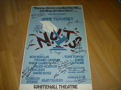 NUTS  Original Multi Signed by Cast  WHITEHALL  Theatre Poster