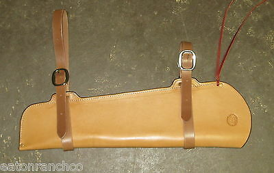 Rifle Scabbard for Saddle Leather Maker Marked Handmade 30.30 Mares Leg Light