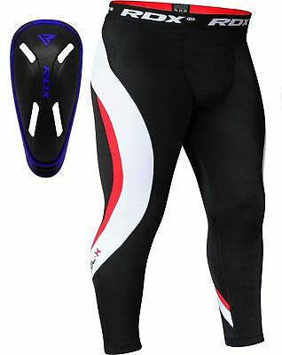 RDX Thermal Compression Pants & Gel Groin Cup Guard MMA UFC Mens Sports Tights A