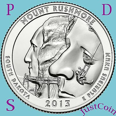 2013 Pds Mount Rushmore National Memorial Quarters Uncirculated From Mint Roll