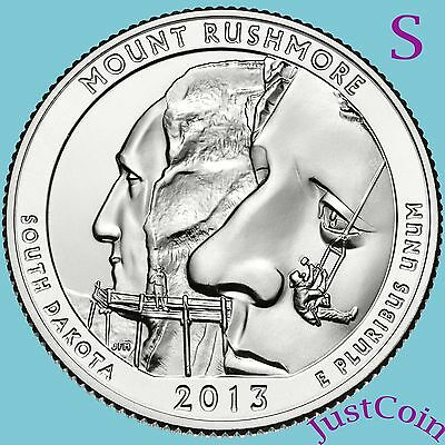 2013-S Mount Rushmore National Memorial Quarter Uncirculated From Mint Roll