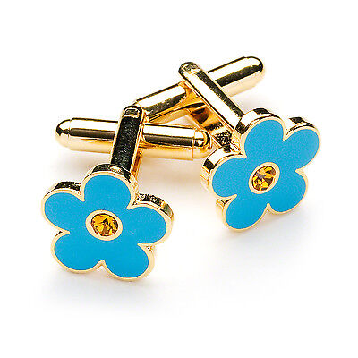Superb Quality Masonic Forget me Not Cufflinks With Stone Set Inside