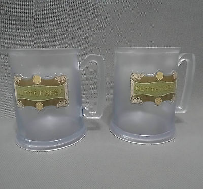 lot of 2  BUTTERBEER PLASTIC MUG CUP WIZARDING WORLD HARRY POTTER