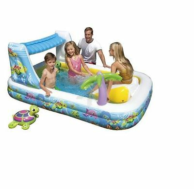 Intex Waterfall Play Center Inflatable Pool With Slide New In Box!
