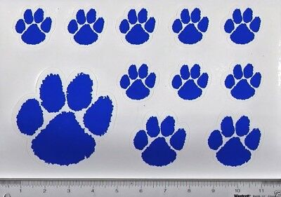 Blue/White PAW Wall/Locker/Car RE-STICKABLE Stickers/NEW/2 Sheets 10 (20 Total)