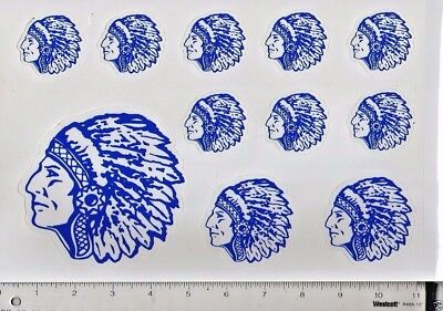 Blue/White Indian Wall/Locker/Car RE-STICKABLE Stickers/NEW/2 Sheets 10/20 Total