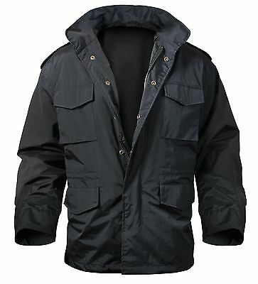 Nylon Black M-65 Storm Jacket - Military Outerwear Tactical Jacket/Coat  SM-3XL