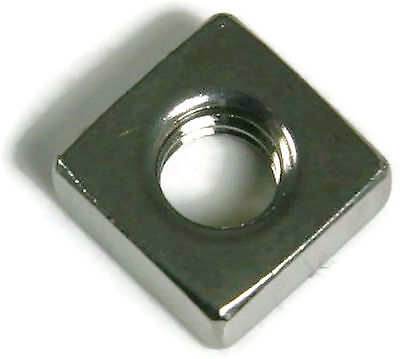 Stainless Steel Square Nuts UNC 3/8-16, Qty 25