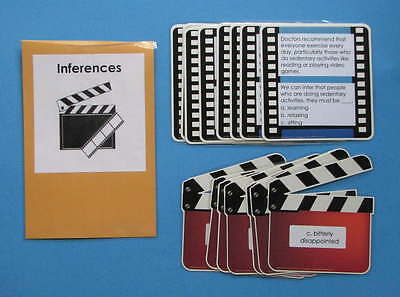 Teacher Made Literacy Center Resource Upper Level Identifying Inferences