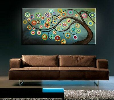 BEAUTIFUL MODERN ABSTRACT HUGE LARGE CANVAS ART OIL PAINTING Style + Gift