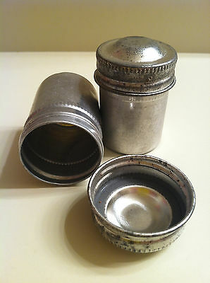 35mm Vintage Metal Film Container Screw on Lid with gasket great for Geocaching