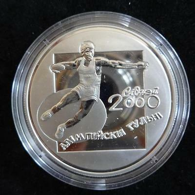 2000 Silver Proof Belarus 20 Roubles Coin + Coa Olympic's Games The Discus