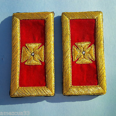 Grand Commandery  Shoulder Straps Golden Mylar Templar