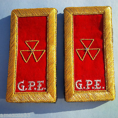 Grad Prelate Emeritus  Shoulder Straps Golden Mylar Templar