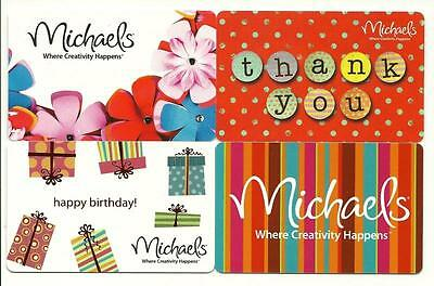 Michaels Lot of (4) Gift Cards No $ Value Collectible