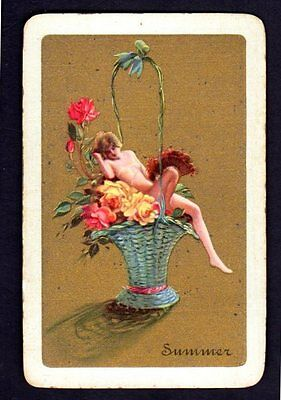 Vintage Swap/Playing Card - Titled - Summer