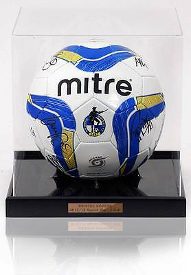 Bristol Rovers 2012/13 Squad Hand Signed Football Ball in Display Case AFTAL COA