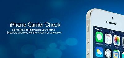 iPhone IMEI Check - Sim Lock Status, Country and Network Carrier Check Service