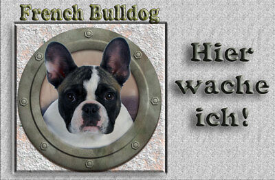 French Bulldog   -Aluschild-Türschild -  ca.305x200mm