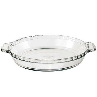 """Anchor Hocking 81214 Large 9.5"""" Open Glass Pie Flan Round Dish Ovenware Dish"""